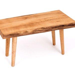 Upcyclingowy drewniany stołek strugany Square Upcycling