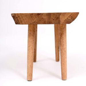 Upcycled wooden stool with hand-planed legs Square Upcycling